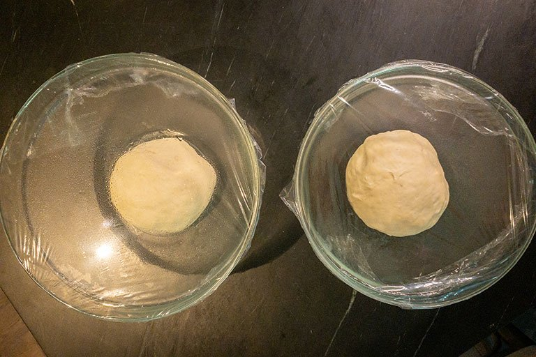 dough before rising