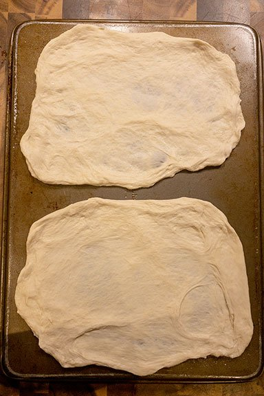 shaped dough ready for the grill