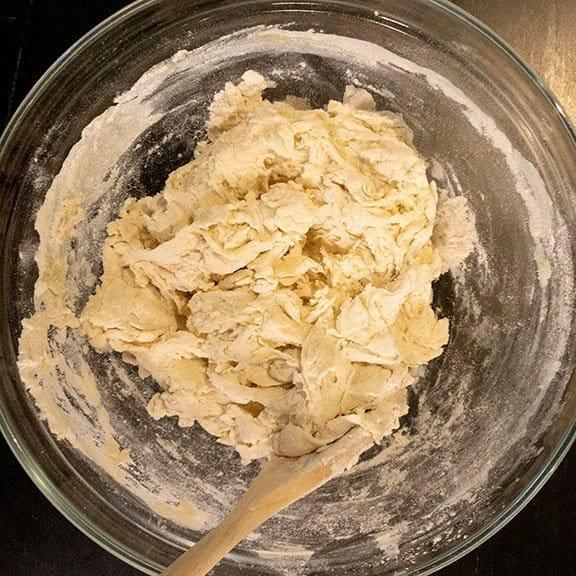 shaggy dough texture