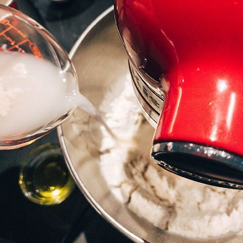 week 6 adding yeast to flour