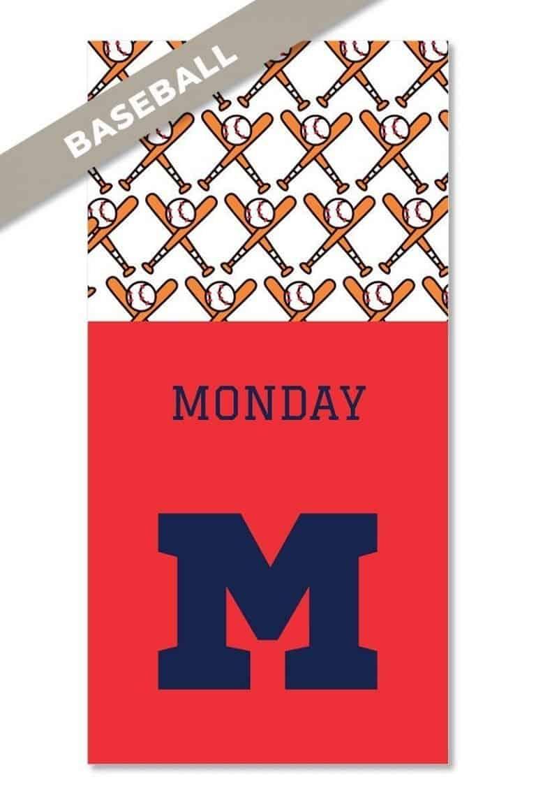Baseball closet hangtag