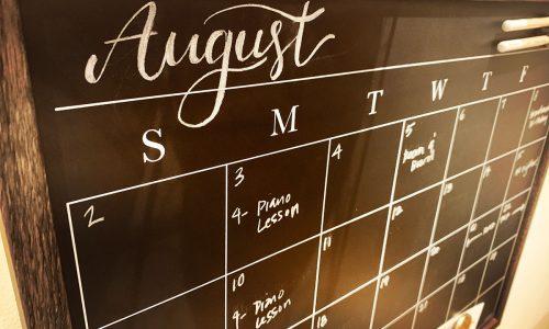 command center chalkboard calendar