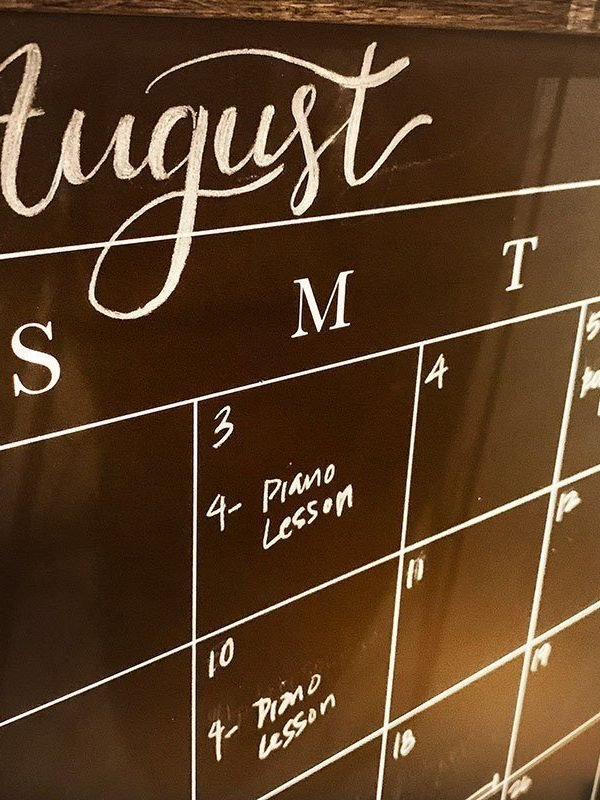 command center chalkboard calendar