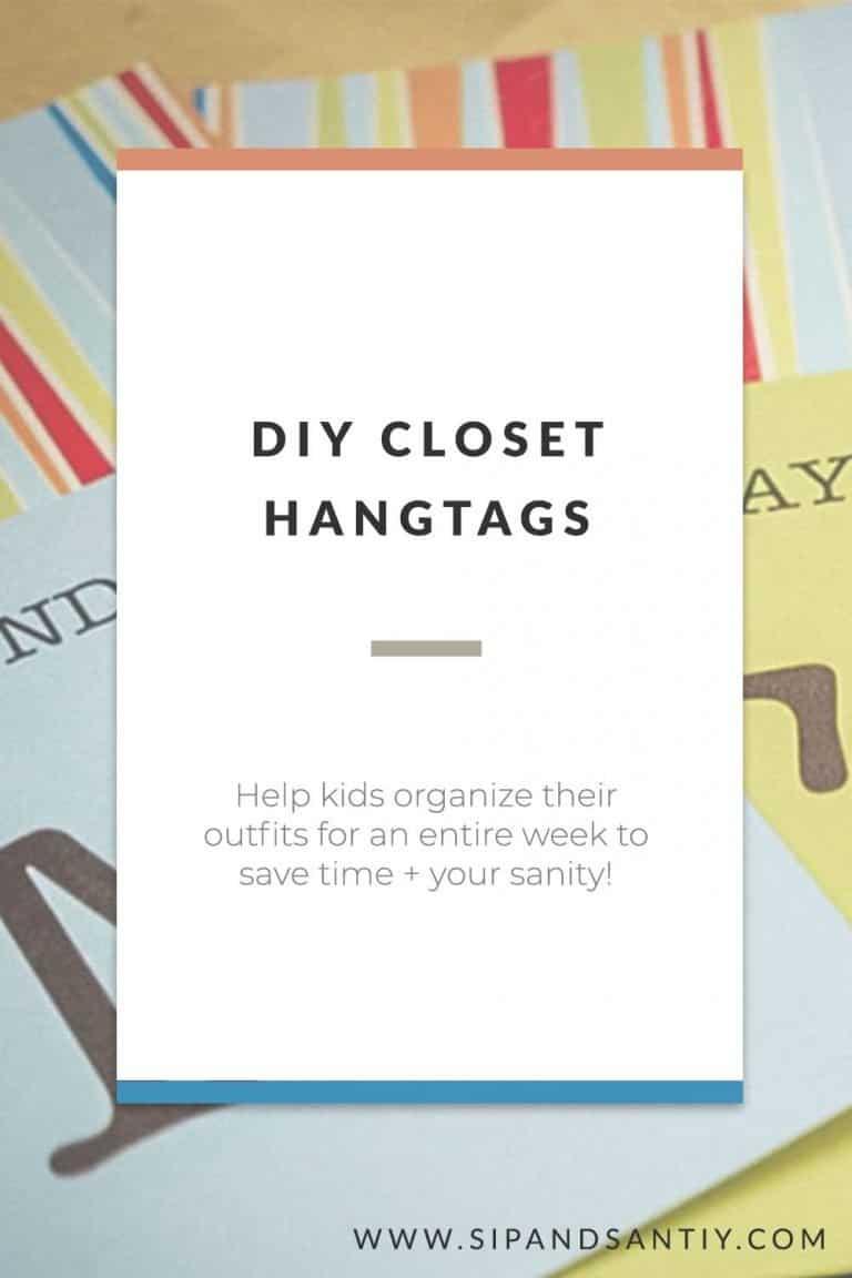 Pin image DIY closet hangtags