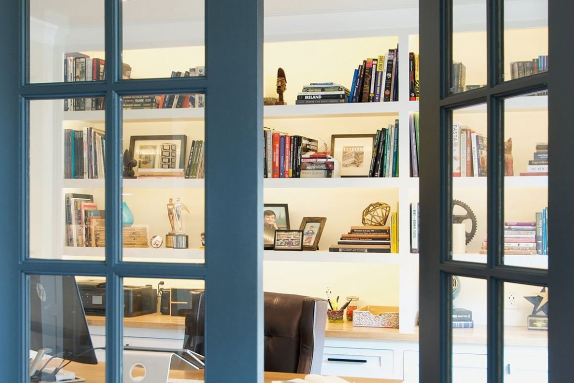 home office remodel french doors