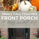 pin image for fall front porch