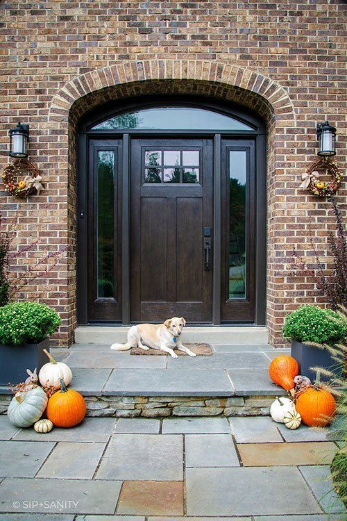 autumn touches for front porch