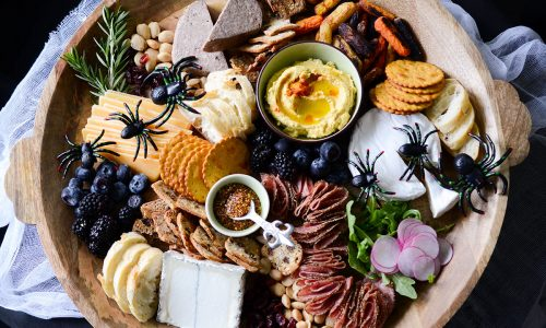 halloween cheese and charcuterie board