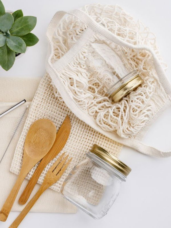 sustainable kitchen products on a table