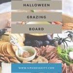 pinnable image for halloween grazing board