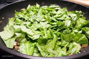 spinach in a skillet