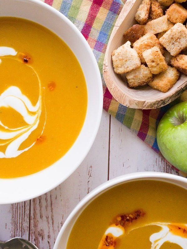 Curried Butternut Squash + Granny Smith Soup
