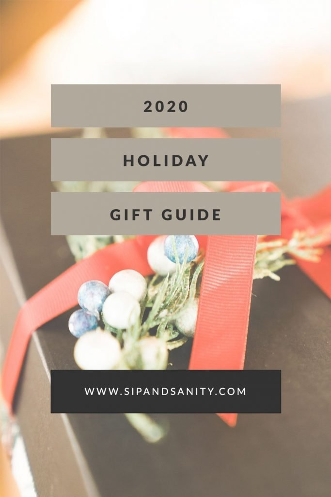 pin image for 2020 holiday gift guide