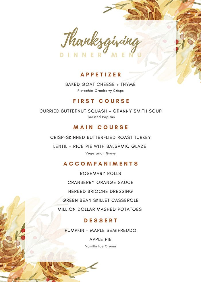 ultimate guide for Thanksgiving menu
