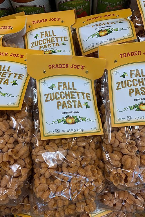 bags of zucchette pasta at market
