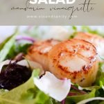pin image for pan seared scallop salad