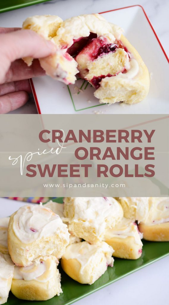 pin image for cranberry orange sweet rolls