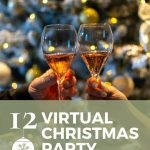 pin image for virtual Christmas party ideas