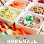 pin image for easy homemade hummus