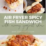 pin image for air fryer spicy fish sandwiches