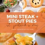 Pin image for mini steak and stout pies
