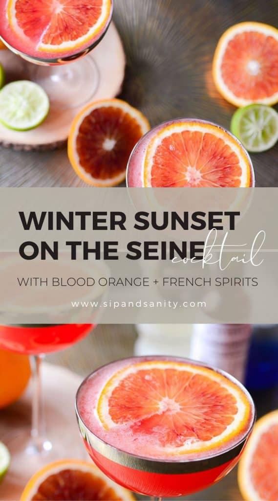 Pin image for blood orange vodka cocktail