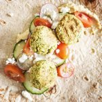falafel with cucumbers and tomatoes