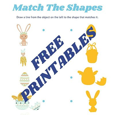 Printable Easter Worksheets from Lil Tigers