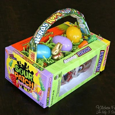 DIY Candy Easter Basket from Kitchen Fun with My Three Sons