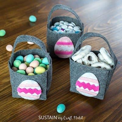 Little Felt Easter Baskets from Sustain My Craft Habit