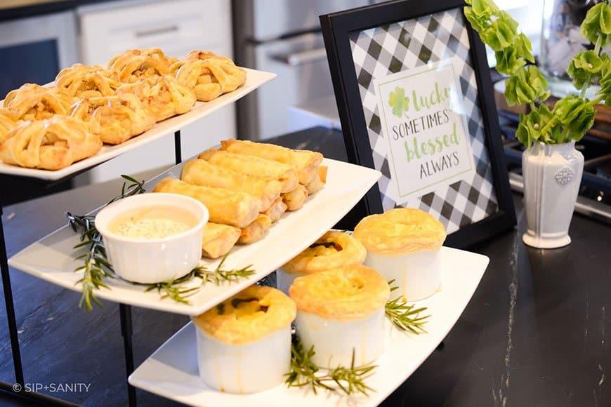 food display with Irish foods
