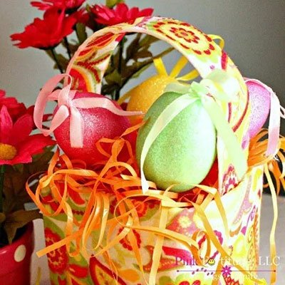 Lilly Pulitzer Inspired Easter Basket from Pink Fortitude