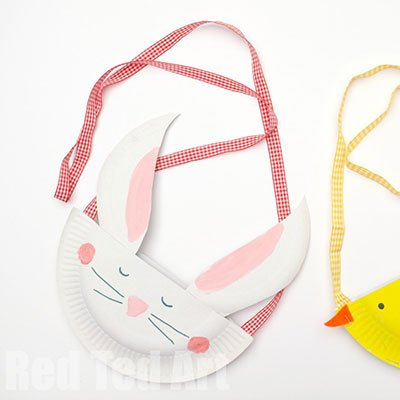 Paper Plate Chick & Bunny Purse from Red Ted Art