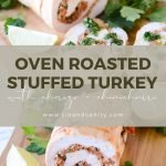 pin image for oven roasted stuffed turkey with chorizo