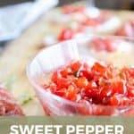 Pin image for sweet pepper jam
