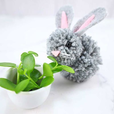Pom Pom Bunnies from Hello Sewing