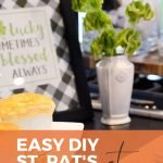 pin image for an easy diy St. Patrick's Day party