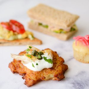 canapés and finger sandwiches