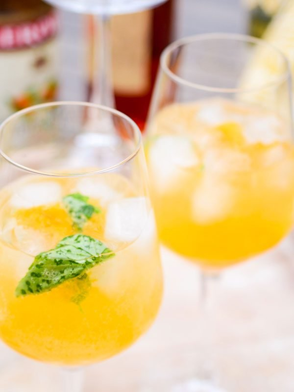 Easy Apricot + Basil Sangria (for Two!)