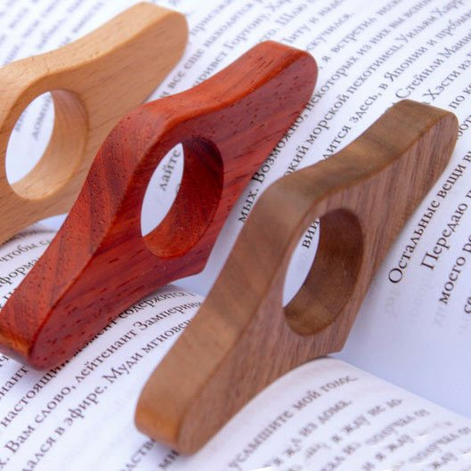 Thumb Book Page Holder from IDEA Wood Company