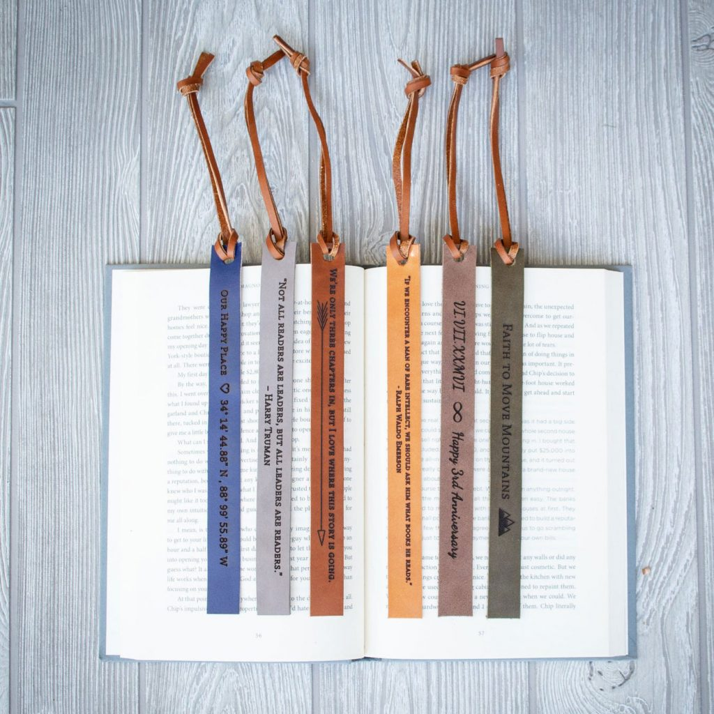 Leather Bookmark by Iron & Grain Leather Goods