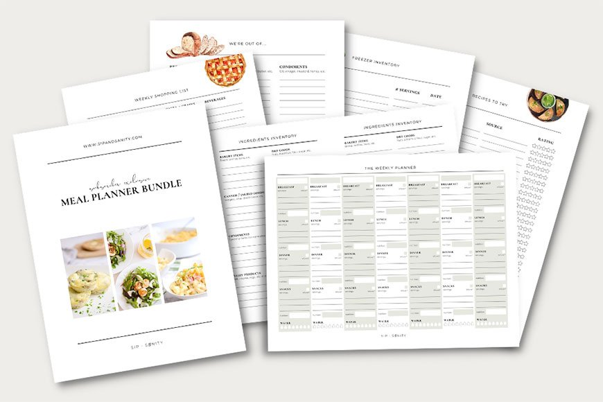 Meal Planner Bundle Graphic