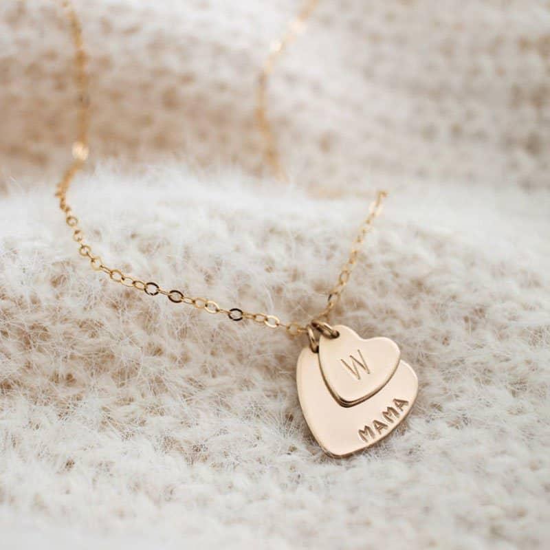 Mama's Heart Necklace from Minimalist Magnolia