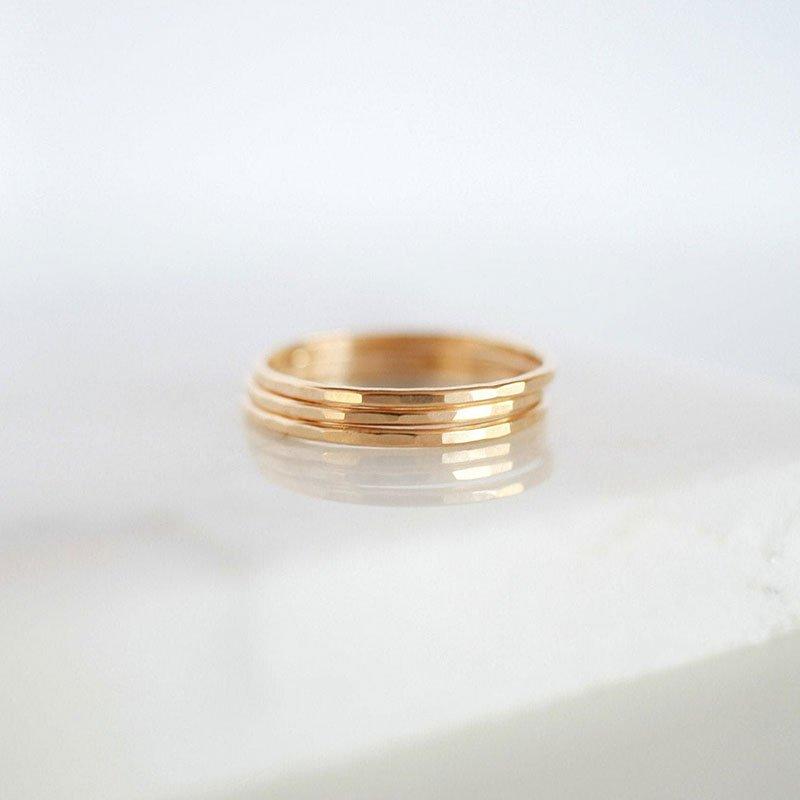 Hammered Skinny Ring from Minimalist Magnolia