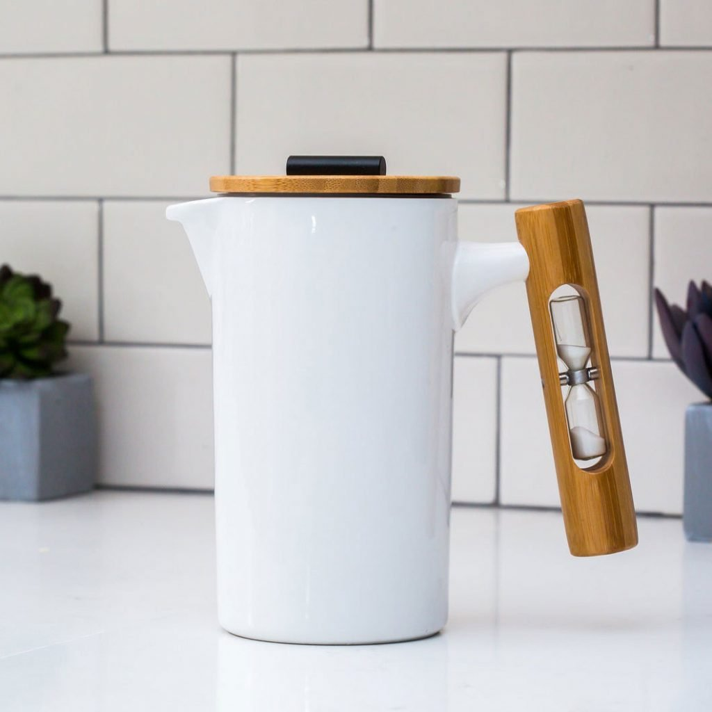 French Press with Hourglass from Stramper Shop
