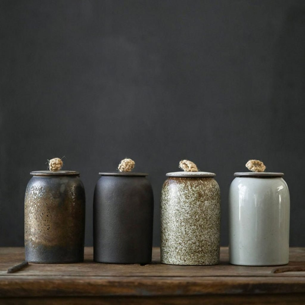 Japanese Ceramic Tea Canister from The Taste Style