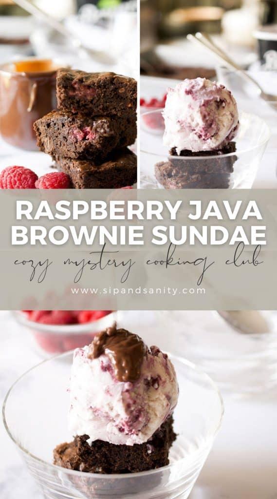 pin image for raspberry java brownie sundae