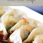 pin image for easy dumpling dipping sauce