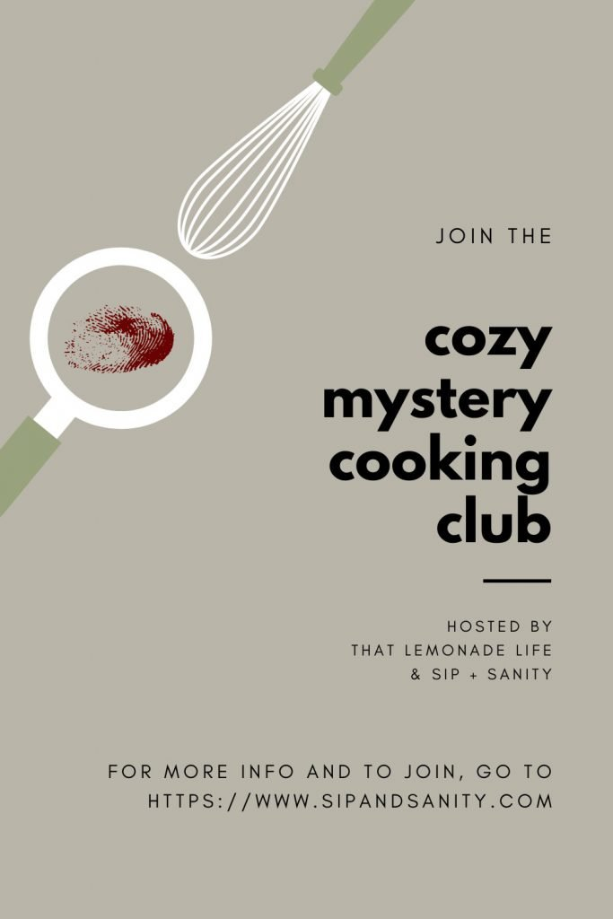 pin image for the cozy mystery cooking club