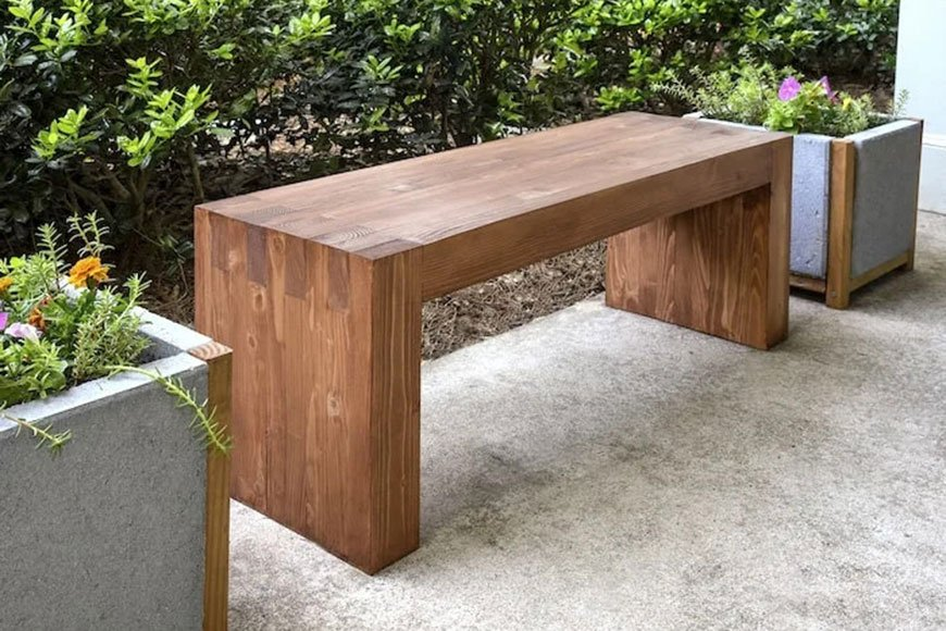 A modern bench from DIY Candy